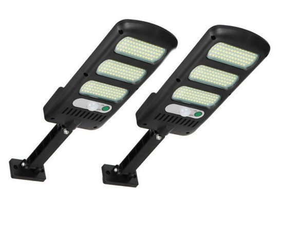 Set 2 Lampi solare cu panou solar, senzor de miscare si lumina