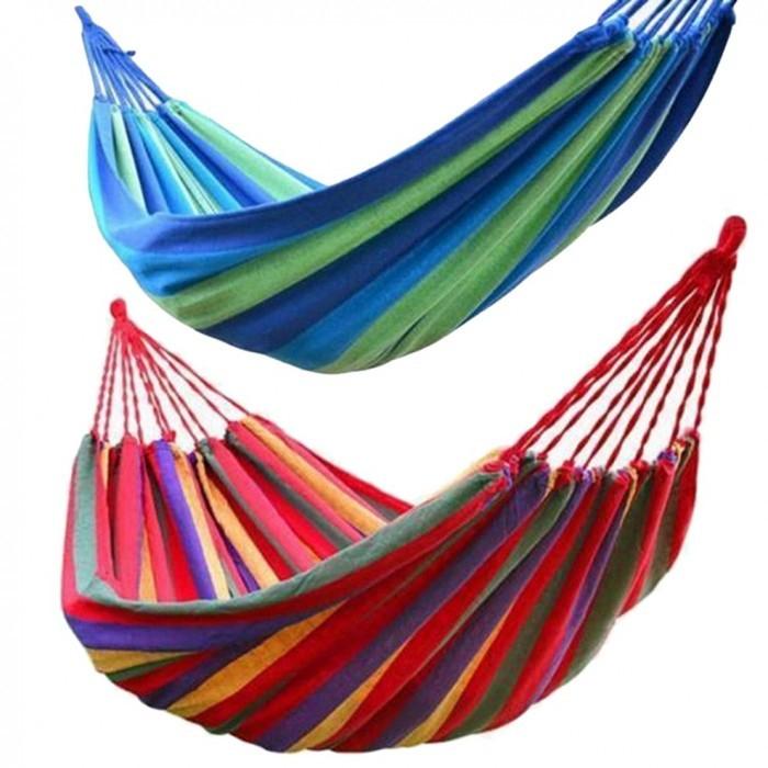 Hamac multicolor, ideal pentru gradina ta