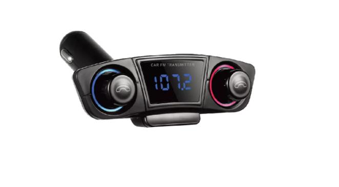 Modulator FM si Bluetooth cu Display, 2 Port-uri USB, Micro SD si Jack 3.5 mm