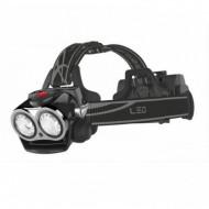 Lanterna Frontala cu Led Multifunctionala Bicicleta 2 Led uri 3 Faze