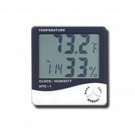 Termohigrometru Digital cu functie de Termometru si Ceas