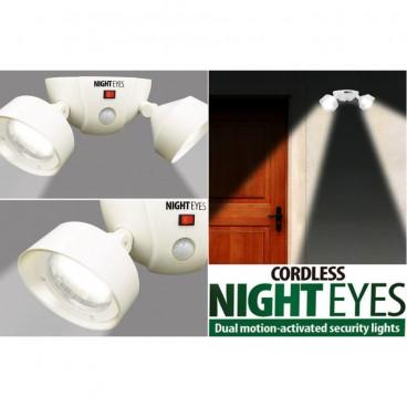 Lampa led dubla fara fir cu senzor de miscare Night Eyes