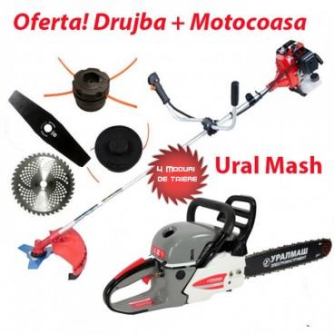 Oferta pachet Drujba + Motocoasa Ruseasca Uralmash