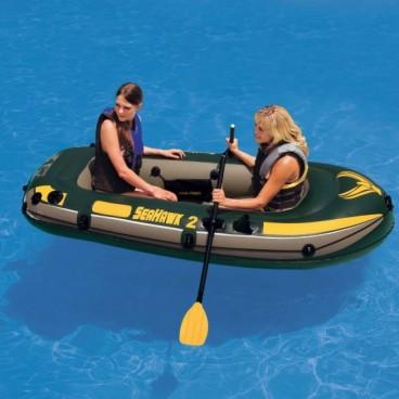 Barca gonflabila pentru 2 persoane Seahawk II Intex 68347 cu vasle si pompa