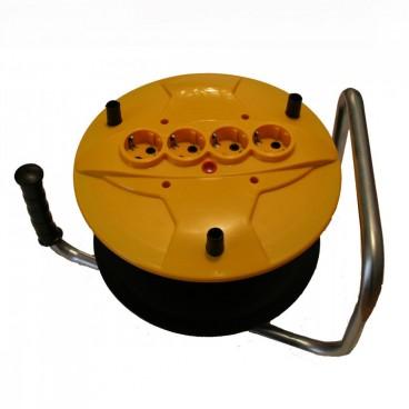Tambur derulator prelungitor tip rola fara cablu 4 prize