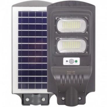 Proiector LED 60w cu panou solar senzor miscare lumina telecomanda 280 leduri