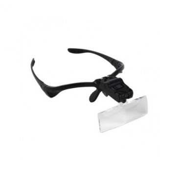 Ochelari magnifiere cu 5 lentile interschimbabile si LED